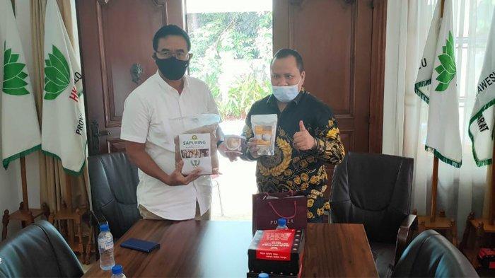 Foto: Bupati Irwan melakukan presentasi ke sejumlah pengurus Himpunan Kerukunan Tani Indonesia (HKTI) di Sekretariat HKTI Menteng, Jakarta Pusat.