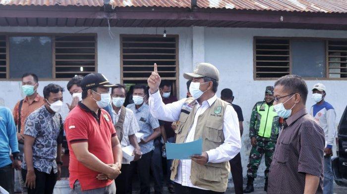 Bupati Siak Terima 3.000 Pcs Masker dari Perusahaan, Diserahkan Kepada 3 Kampung