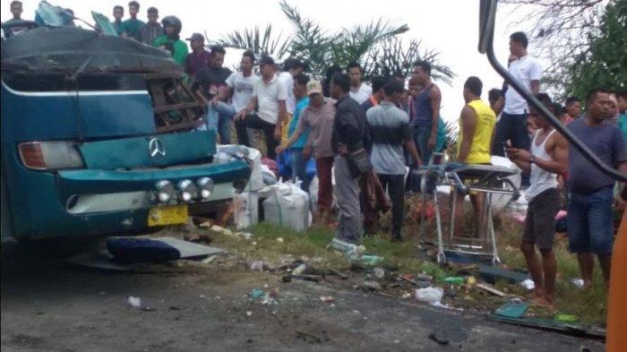 Daftar Lengkap Korban Bus Maut PMTOH, yang Tewas Maupun Masih Dirawat di RSUD Kuansing Riau