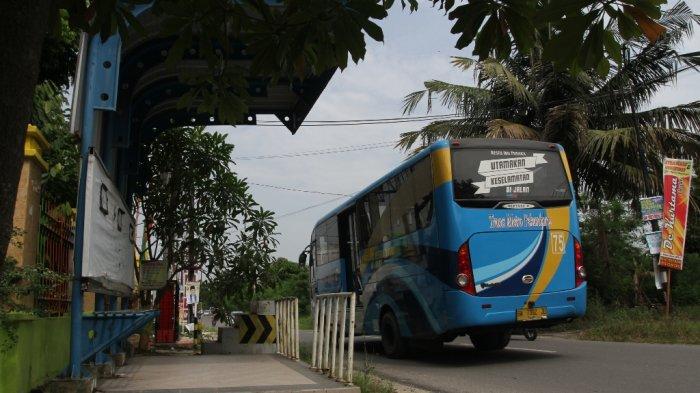FOTO: Koridor Bus TMP Tujuan Kartama-Tuanku Tambusai Aktif Kembali