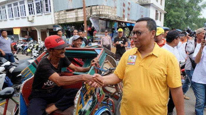 Lukman Edy melakukan kampanye di Desa Pulau Palas, Kecamatan Tembilahan Hulu Kabupaten Indragiri Hilir, Riau, Minggu,(24/02/2018).