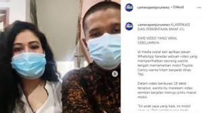 Mobil Toyota Camry Hitam berplat dinas TNI 3423-00 yang viral di media sosial.