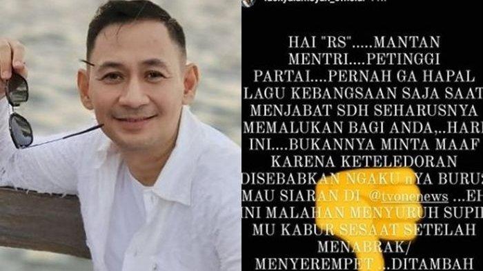 Capture postingan pesinetron Lucky Alamsyah usai berkonflik dengan Roy Suryo