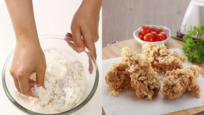 Cara Membuat Ayam Goreng Tepung dan Renyah Tetap Keriting, Ini Kesalahan yang Sering Dilakukan