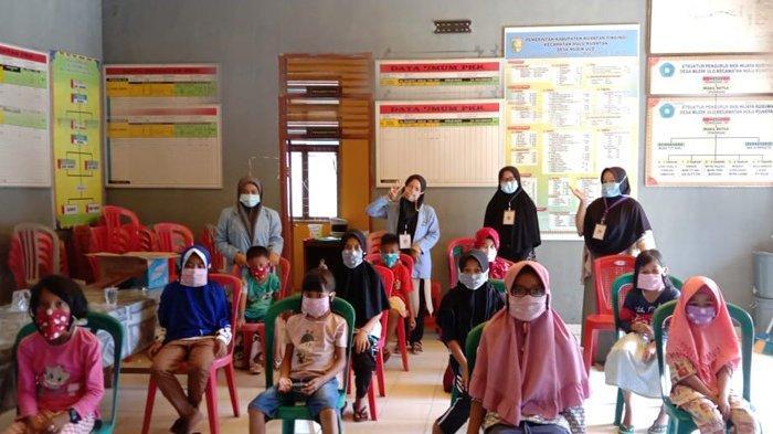 Cegah Penularan Covid-19, Mahasiswa Kukerta UNRI Gelar Sosialisasi kepada Anak-anak