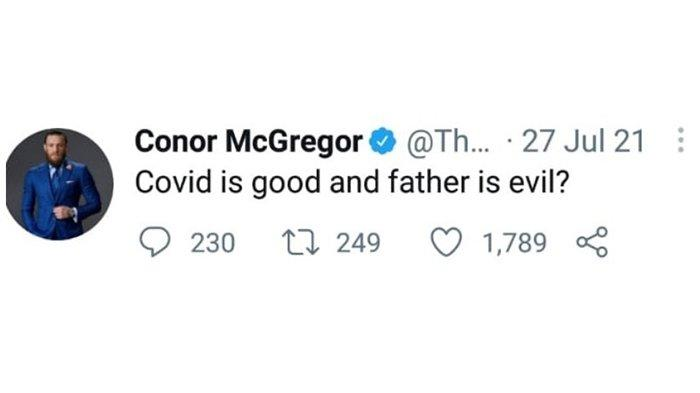 Cuitan Conor McGregor yang menyinggung Khabib Nurmagomedov dan almarhum ayahnya.
