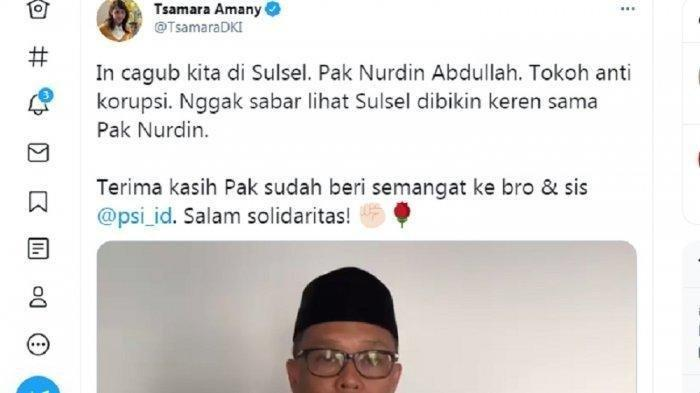 Tsamara Amany 3 Tahun Lalu Sebut Nurdin Abdullah Tokoh Anti Korupsi, Ini Respon Netizen
