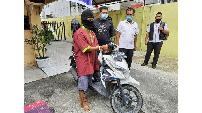 Bermodal Gunting Lipat Kecil, Andra Sukses Gasak Honda Beat, Namun Aksinya Terekam CCTV