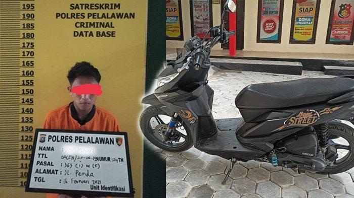 Curi Motor dari Warung di Jalan Lingkar, Pria Ini Tak Berkutik Diciduk Tim Buser Polres Pelalawan