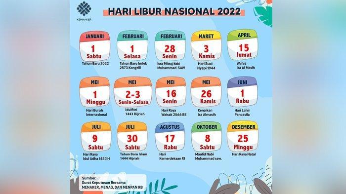 Ada 16 Hari Libur, Ini Daftar Libur Nasional 2022, Cuti Bersama Akan Disesuaikan