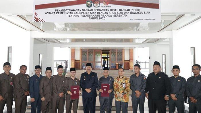 KPU Siak Riau Dapat Dana Hibah Rp 26,5 Miliar, Bawaslu Rp 10,8 Miliar untuk Pilkada 2020