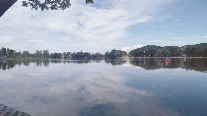 Takut Terpapar Covid-19, Dimas Tetap Kunjungi Objek Wisata Danau Raja di Inhu, Ini yang Dilakukannya