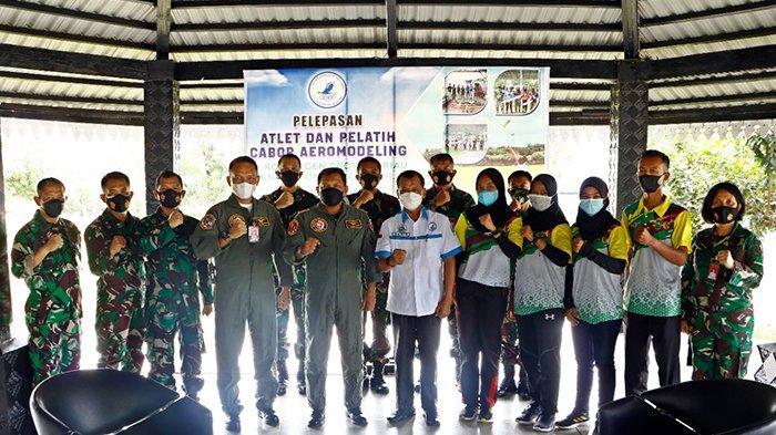 Begini Cara Danlanud Roesmin Nurjadin Semangati Atlet Ordiga Riau yang Berlaga di PON 2021 Papua