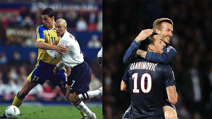 Jelang Swedia Vs Inggris Piala Dunia 2018, Ibrahimovic Tantang David Beckham, Mana yang Menang?