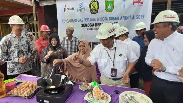 Jaringan Gas PGN 'Terobos' Kota Dumai, Kini Nurhayati Tak Repot Lagi Berburu Gas 3 Kg