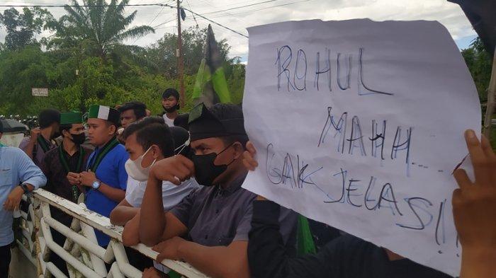 Demo Mahasiswa di Rohul Usung 11 Poin Pernyataan Sikap, DPRD Rohul Minta Dipertimbangkan