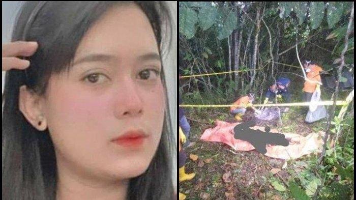 Deretan fakta terkait kematian wanita di Samarinda, Julia (25). Foto kolase foto Julia dan lokasi penemuan jasad Julia yang tinggal tulang belulang, Jumat (23/9) dini hari.