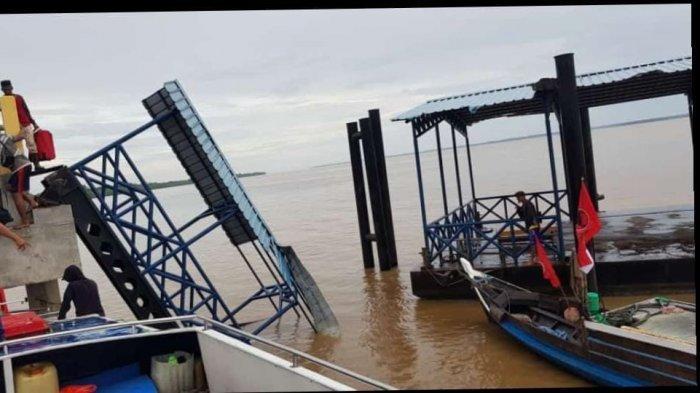 Roboh Diterjang Badai, Dishub Pelalawan Anggarkan Perbaikan Dermaga Sokoi di APBD-P, Berapa Dananya?