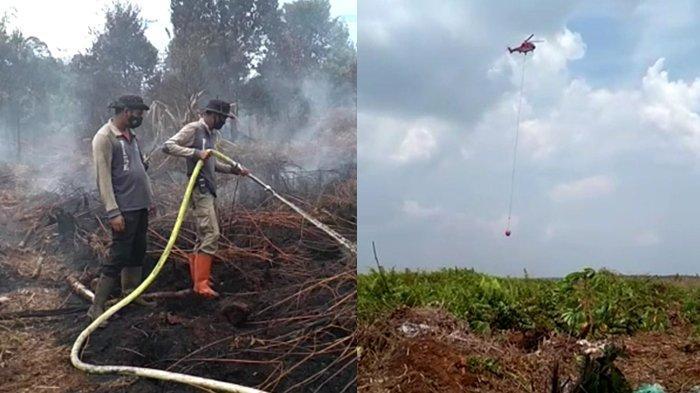 Dibantu 2 Helikopter Water Bombing, Karhutla di Teluk Meranti Padam, Petugas Lanjutkan Pendinginan