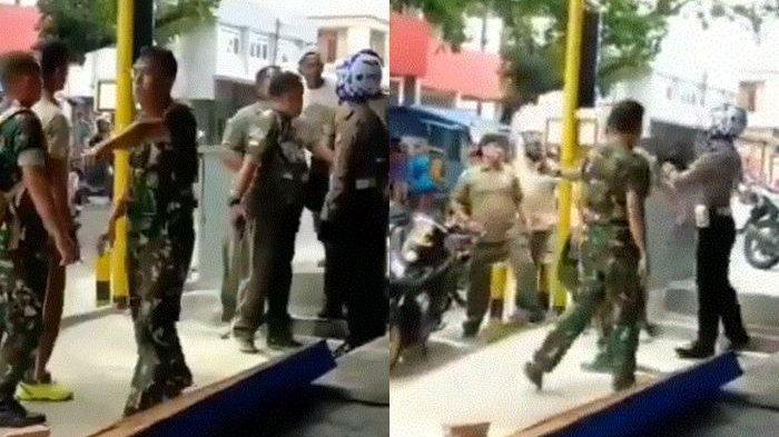 DITILANG, Anak Danramil Diduga Ngadu ke Ayah, Lalu Viral Video Oknum TNI Kroyokan Datangi Polantas