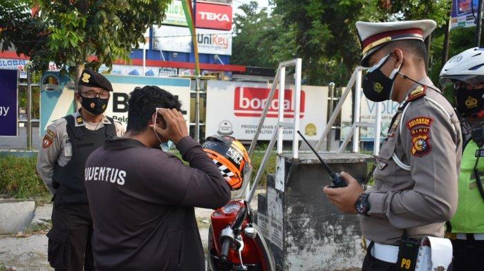 70 Pengendara Tak Pakai Masker Ditindak Satlantas Polresta Pekanbaru