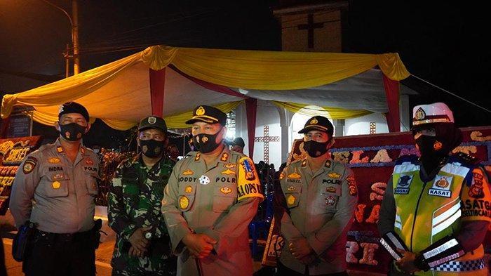 Kapolres Siak Patroli untuk Pengamanan Gereja Saat Natal, Ketat Terapkan Protokol Kesehatan Covid-19