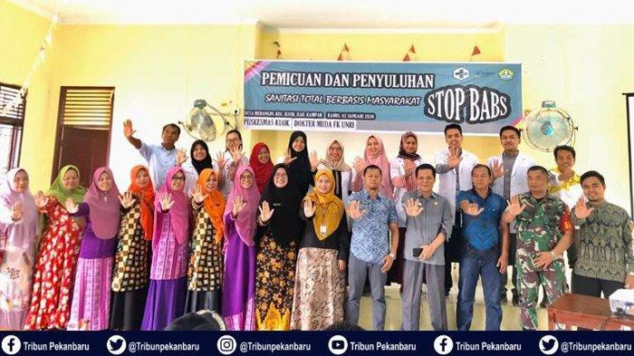DOKTER Muda di Riau Gelar Pemicuan dan Penyuluhan Sanitasi Total Berbasis Masyarakat 'STOP BABS'