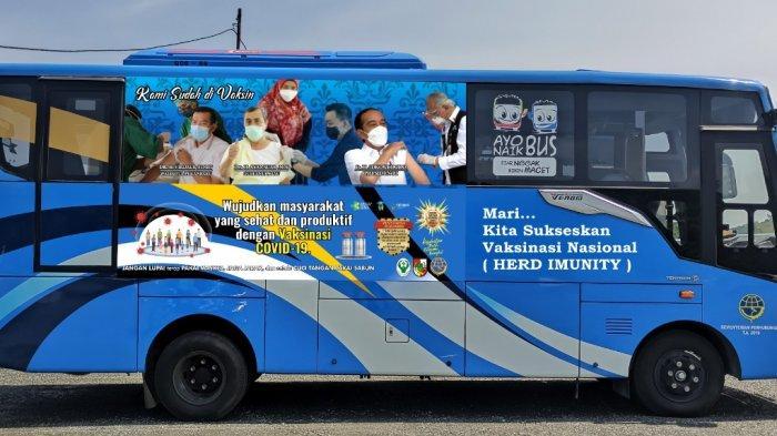 Jadwal Bus Vaksinasi Keliling Hari Ini,Parkir di Sejumlah Lokasi di Pekanbaru, Mana Saja Tempatnya?