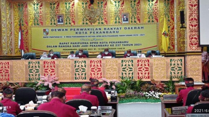 DPRD Pekanbaru Gelar Rapat Paripurna Istimewa HUT Pekanbaru ke-237 Secara Tatap Muka dan Virtual