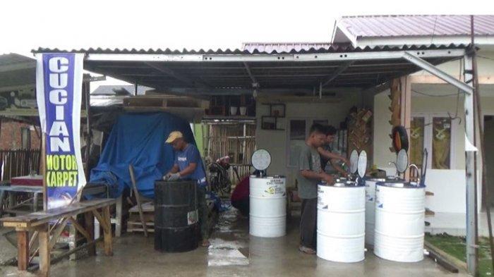 Olah Drum Bekas jadi Wastafel, Warga Desa Pandau Jaya Kampar Berkreasi Saat Pandemi Covid-19