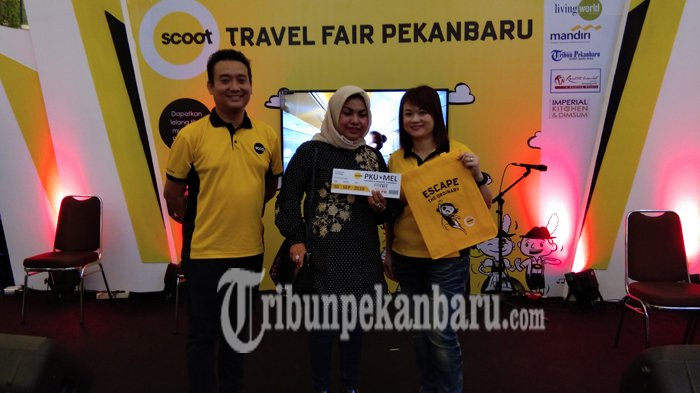 Dua Tiket ke Luar Negeri Dibandrol Murah pada Ajang Scoot Travel Fair Pekanbaru