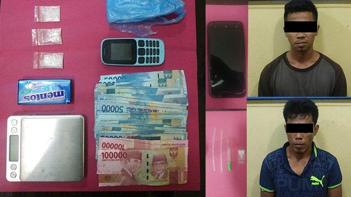 Sedang Duduk di Gubuk Dua Karyawan Swasta di Rokan Hulu Riau Ditangkap Polisi dengan 5 Gram Sabu