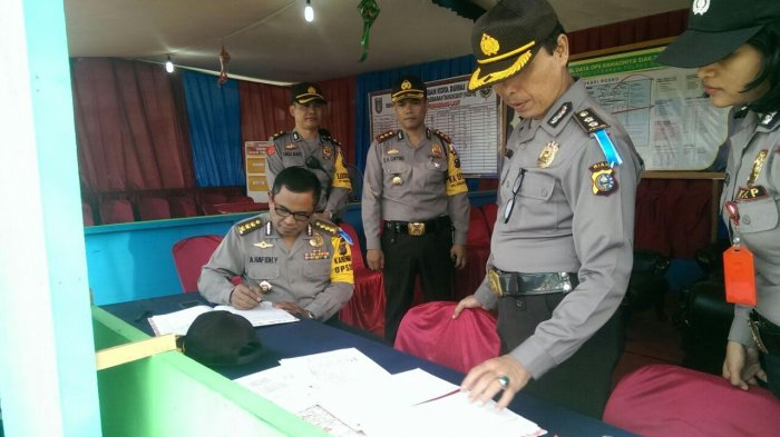 Tim Supervisi Polda Riau Tinjau Kesiapan Petugas Saat Arus Balik Lebaran 2017 di Dumai