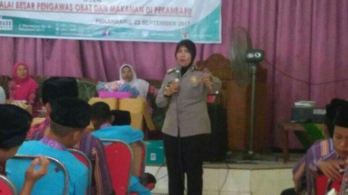 Polresta Pekanbaru, BNN dan BBPOM Edukasi Anak Panti Asuhan YKWI