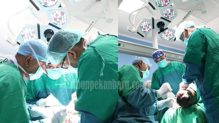 EKSKLUSIF - Operasi Tumor Sebesar Bola dan Mengganti Tengkorak Kepala di RSUD Arifin Achmad Riau