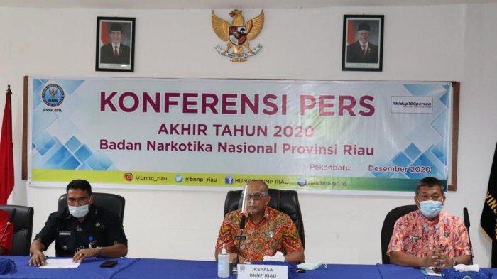 BNNP Riau Ungkap 52 Kasus Narkoba Selama 2020, Banyak Dikendalikan Napi Dari Dalam Lapas