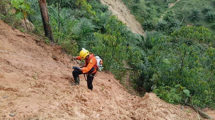 Pencarian 2 Korban Tertimbun Longsor di Rohul Riau, Tim SAR Kerahkan Alat Berat dan Anjing Pelacak