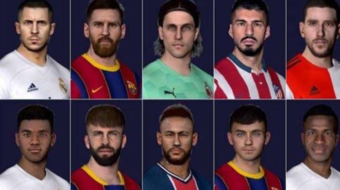 Download Facepack Terbaru 2021 PES 2017 versi PC, Update Messi, Neymar, Suarez, Eden Hazard