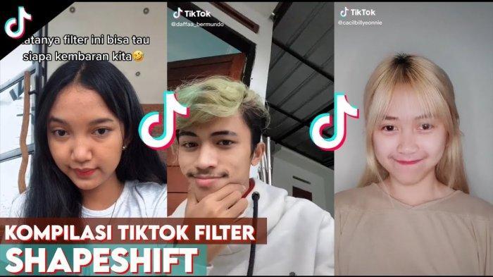Filter Viral Yang Lagi Hits Di Tiktok Terbaru Bisa Merubah Dari Laki Laki Ke Perempuan Cewek Tribun Pekanbaru