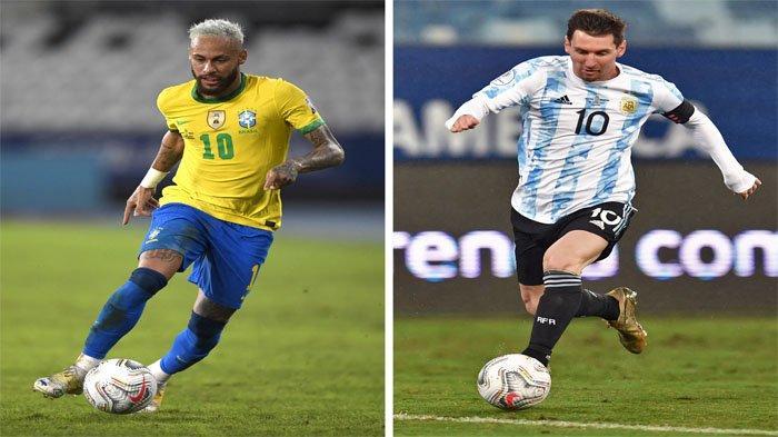 Final Copa America 2021, Argentina vs Brasil, Adu Tajam Lionel Messi dan Neymar