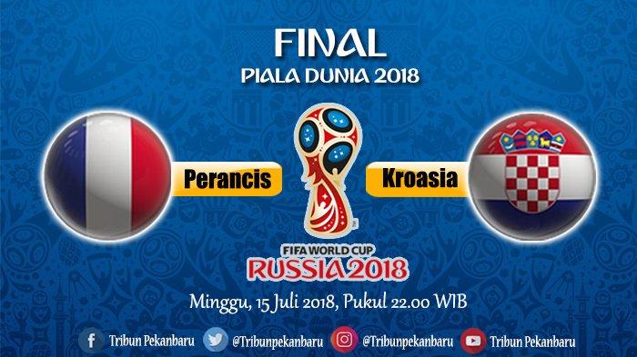JADWAL FINAL Piala Dunia 2018 Perancis Vs Kroasia, Begini Ramalan si Hamster Chichi dan Mimi