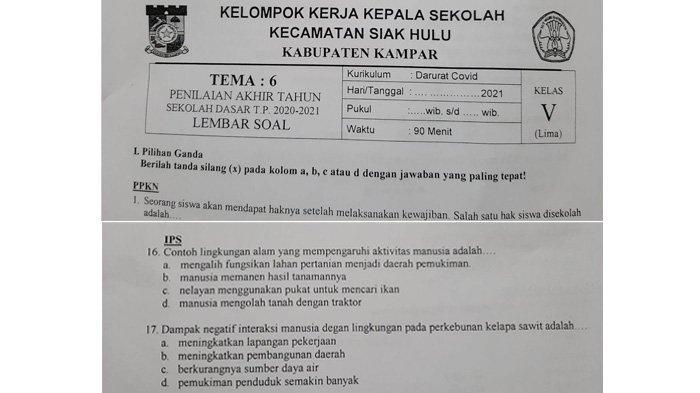 FORMASI Indonesia: Ujian SD Riau Disusupi Kampanye Anti Sawit