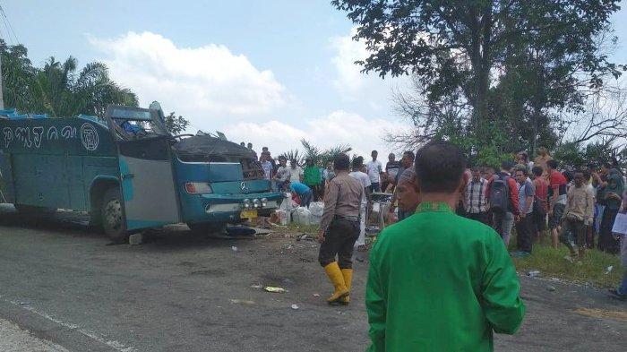 Ini Data Korban Meninggal Dunia Lakalantas Bus PMTOH di Kuansing Riau