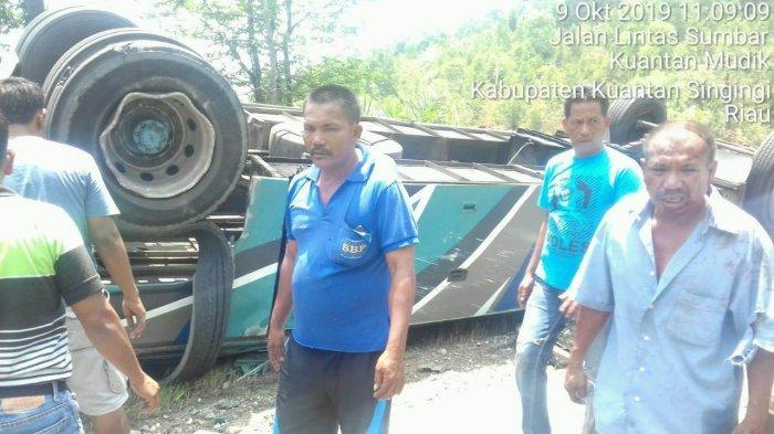 Tidak Ngebut, Bus PMTOH yang Kecelakaan Maut di Kuansing Riau Dua Kali Terbalik
