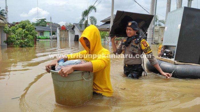 Seribu KK Terdampak Banjir di Pekanbaru, BPBD Kota Masih Tunggu Bantuan dari BPBD Provinsi Riau