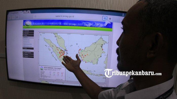 Terdeteksi 10 Hotspot di Pelalawan, Tersebar di Lokasi Ini, Titik Api Sempat Muncul di TNTN