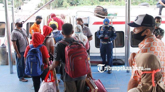 Dishub Pekanbaru Awasi Posko di Pelabuhan Sungai Duku Saat Arus Mudik