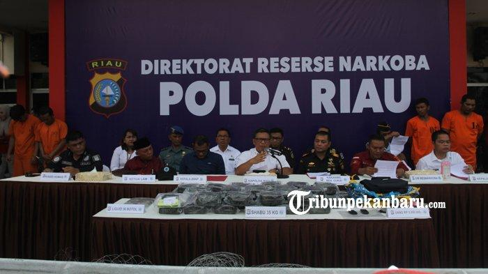 Polda Riau Gagalkan Peredaran 35 Kg Narkoba Jenis Sabu, Ratusan Ribu Orang Terselamatkan