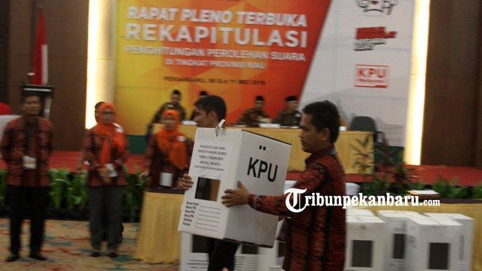 Besok, Senin (22/7/2019) KPU Tetapkan Caleg Terpilih, Ini Penjelasan KPU Riau