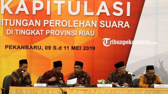 KPU Riau Targetkan Pleno Selesai Rabu 15 Mei, Siap Hadapi Gugatan Peserta Pemilu di MK